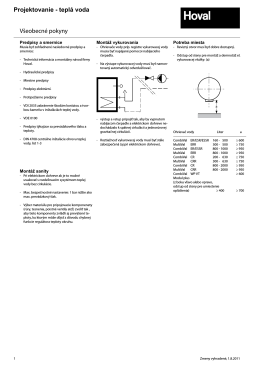 Projektovanie TUV katalog