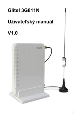 Glitel 3G811N Užívateľský manuál V1.0