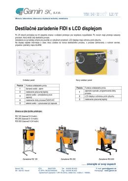 Destilačné zariadenie FIDI s LCD displejom
