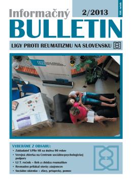 Informačný BULLETIN ligy proti reumatizmu na Slovensku 2