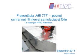 """Prezentácia """"ABI 777"""" – pevnej ochrannej"""