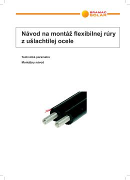 Flexibilná nerezová rúra