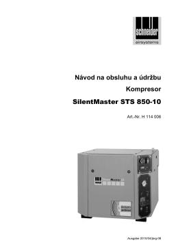 Návod na obsluhu a údržbu Kompresor SilentMaster STS 850-10