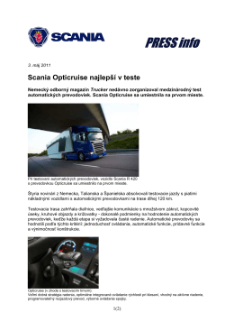 Scania Opticruise najlepší v teste