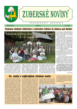 Zuberské noviny 2/2013 Formát PDF