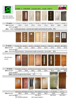Cenník dverí Eben výroba 2013