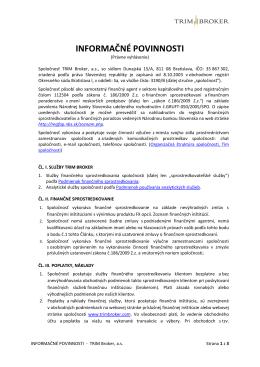 Informačné povinnosti (Právne vyhlásenie)