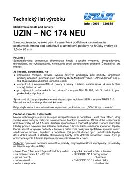 UZIN – NC 174 NEU