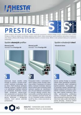 Leták prestige okná, dvere
