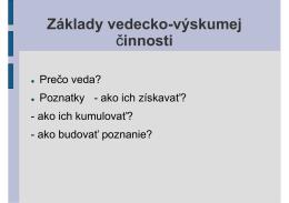 prezentácie