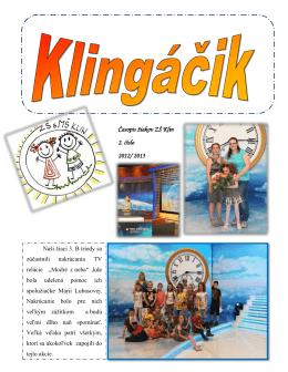 Časopis žiakov ZŠ Klin 2. číslo 2012/ 2013