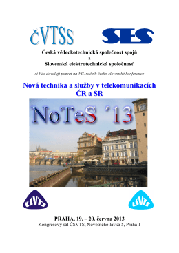 Pozvánka NoTeS 13