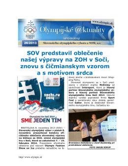 Olympijské aktuality 26/2013