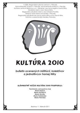 KULTÚRA 2010 - Regionálne kultúrne centrum v Prievidzi