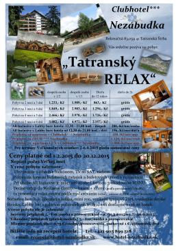 """""""Tatranský RELAX"""""""