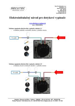 Elektrické zapojenie - Luxusné dotykové vypínače