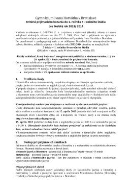 Gymnázium Ivana Horvátha v Bratislave