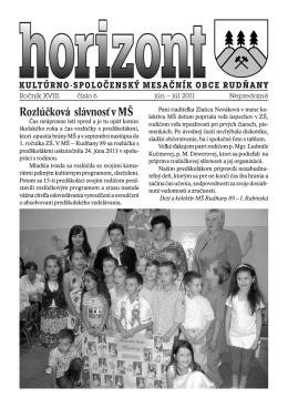 Horizont číslo 6/2011 (.pdf)