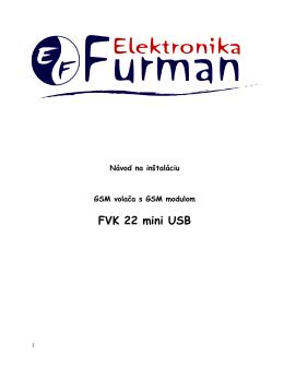 Návod pre FVK 22 mini USB
