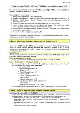 POLYSOFT Nové výkazy pre účtovnú závierku rok 2014 20150225