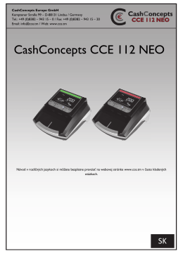 CashConcepts CCE 112 NEO