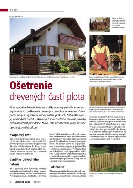Ošetrenie drevených častí plota