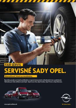 Fair Servis leták - Úžitkové vozidlá Opel