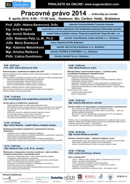 Pracovné právo 2014