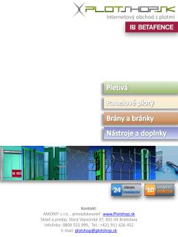 Prezentácia e-shopu s plotmi