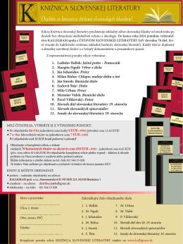 Knižnica svetovej literatúry – Akciová ponuka