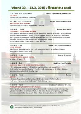 Program v okrese BR na víkend 20. – 22.2. 2015