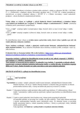 metodické vysvetlivky k výkazu KULT 10-01