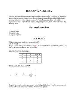 Boolova algebra