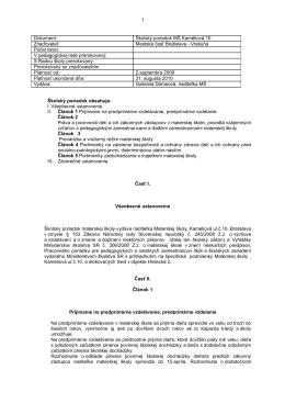 Materská škola – Hnilecká 2, 82107 Bratislava
