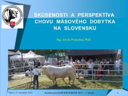 skúsenosti a perspektíva chovu mäsového dobytka
