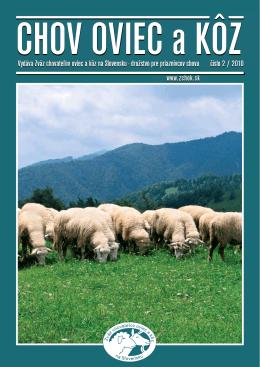 Číslo 02/2010 - Zväz chovateľov oviec a kôz na Slovensku