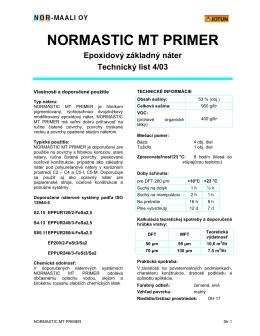 NORMASTIC MT PRIMER