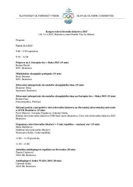 témam uvedených v programe [pdf]