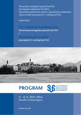 SLS Nitra 2014 PROGRAM.indd - Slovenská urologická spoločnosť