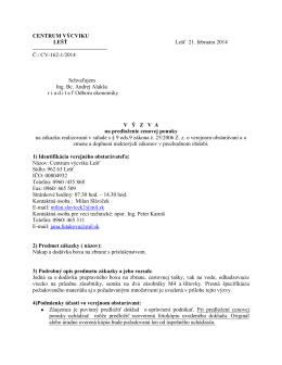 Výzva na predloženie cenovej ponuky [pdf]
