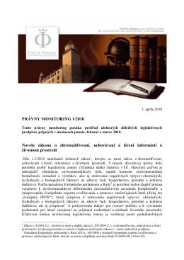 Právny monitoring 1-2010 - futej-sk