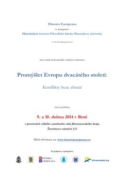 Bližší informace - Historia Europeana, os