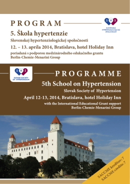 PROGRAM 5. Škola hypertenzie