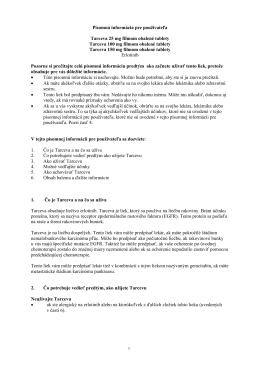 Tarceva, INN-erlotinib - Roche Slovensko s. r. o.