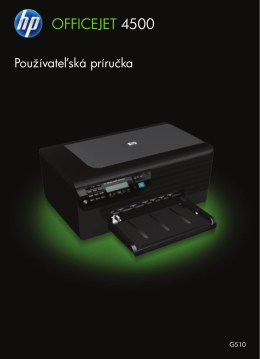 HP Officejet 4500 (G510) All-in