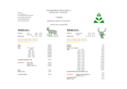 V slovenčine - Lesné hospodárstvo Inovec sro