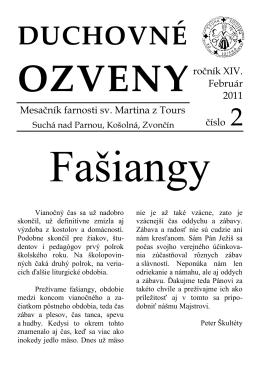 február 2011 - Farnosť Suchá nad Parnou