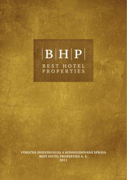 Výročná správa 2011 - Best Hotel Properties as