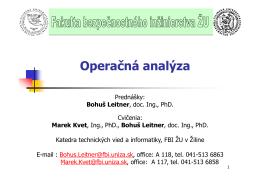 Organizačné pokyny (pdf)