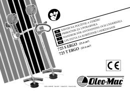 725 S ERGO 725 T ERGO - Oleo-Mac